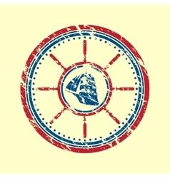 Boat symbol grunge vector image