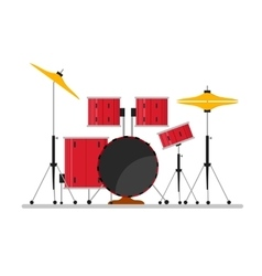 Cartoon Color Drum Kit or Set vector image