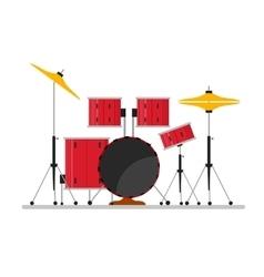 Cartoon color drum kit or set vector