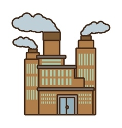 Cartoon manufacture building pollution chimney vector