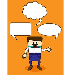 Cartoon with speech bubble vector image