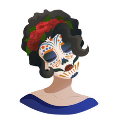 Catrina day of the dead symbol of mexico vector