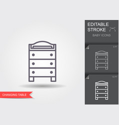 changing table line icon with editable stroke vector image