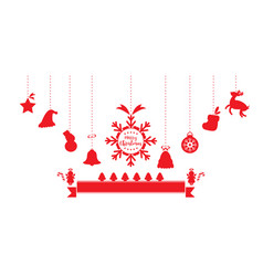 christmas ornaments hanging vector image