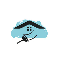 Cloud cleaning logo design vector