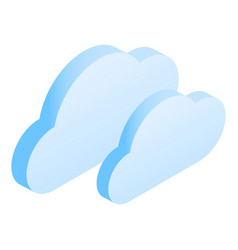 cloud data icon isometric style vector image
