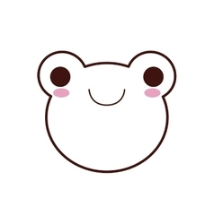 Cute frog kawaii style vector