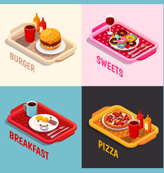 Food cooking isometric concept vector