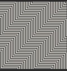 geometric zigzag lines seamless pattern trendy vector image