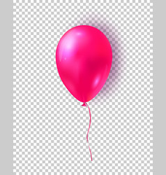 glossy pink balloon realistic air 3d balloon vector image