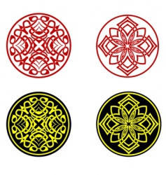greek ornaments vector image