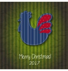 Greeting card Happy New Year and Merry Christmas vector
