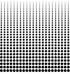 halftone background decreasing black dots vector image