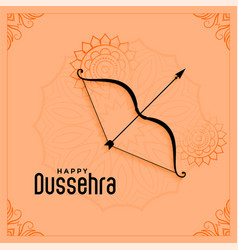 Happy dussehra festival greeting in ethnic style vector