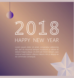 Happy new year 2018 on a beige background vector