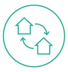 House exchange line icon vector image