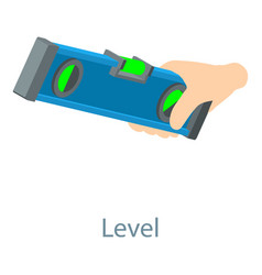 level tool icon isometric 3d style vector image