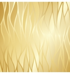 Luxury golden floral wallpaper vector image