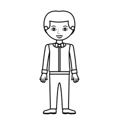 man silhouette with formal shirt and bowtie vector image