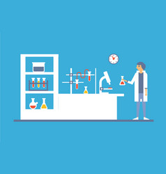Medical lab interior blood laboratory research vector