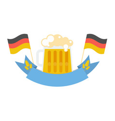 mug with beer vector image