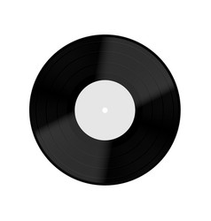 Old vinyl record isolated on white background vector