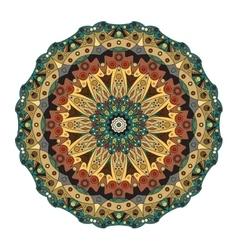Oriental mandala Ornamental circle pattern vector image
