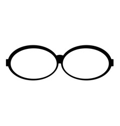 oval glasses icon simple style vector image