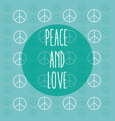 Peace and love cartoon vector