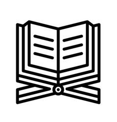 Quran ramadan related line icon vector