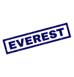 Rectangle scratched everest stamp vector