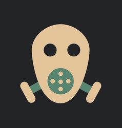 Respirator icon vector