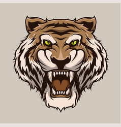 Roaring tiger tiger head mascot vector