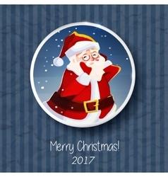 Santa Claus portrait Christmas card poster banner vector image