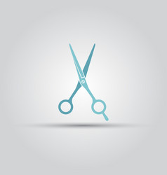 scissors isolated colored icon vector image