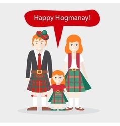 Scots People Congratulations Happy New Year vector image