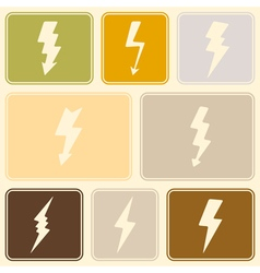 seamless background with lightning vector image