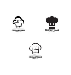 set of chef hat logo design template vector image