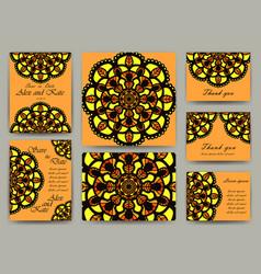 set of invitation card templates vector image