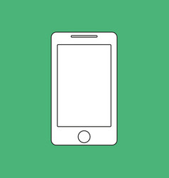 smartphone outline icon imitation draw with white vector image