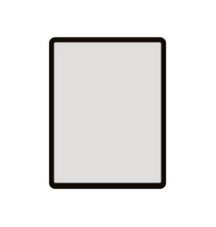 tablet flat style vector image
