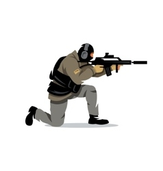 Tactical shooting Cartoon vector image