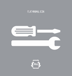 Technical assistance - flat icon vector