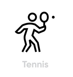 tennis sport icons vector image