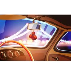 vehicle interior vector image vector image