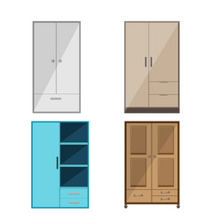 wardrobe design isolate collection set vector image