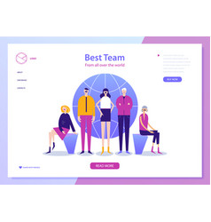 Web page design template for project vector