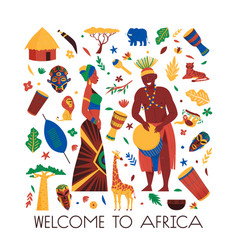Welcome to africa composition vector