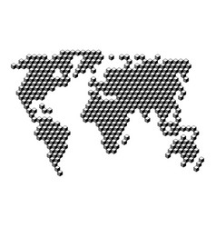 World map from 3d black cubes isometric abstract vector