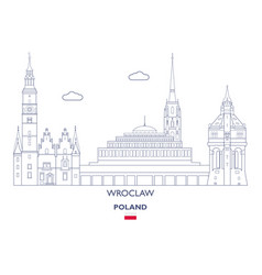 wroclaw city skyline vector image